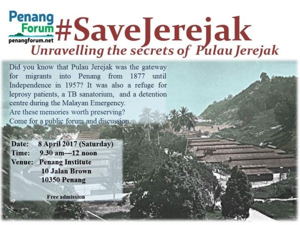 Save Jerejak forum April 2017